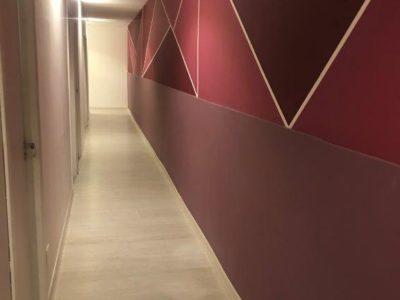 corredores decorados spacebjob coworking em bh